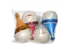 Іграшка новорічна Сніговик в упак 4шт