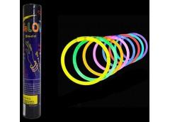 Браслет неоновий світащийся 50 шт. тубус GB50B (50) &&