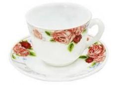 Набір кавовий в короб. 12 пред. Рожева троянда склокераміка 1071 CS-12C (1/12) І...