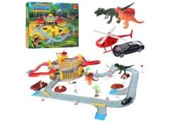 Гараж в кор 2 етаж. транспорт, динозавр, аксесуари, 41*36*7см. T320-A (24)