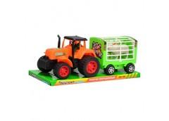 Трактор в слюді з прицепом і тваринами 31*13см 906-102 (60)