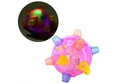 М'яч в кул муз світящ на батар 13см  FJ 9385  (168)