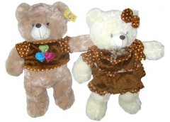 Ведмедик травка з бантом з серцем