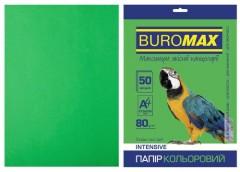 Папір офс А-4 50а/ 80г Intensiv зелений  2721350-04 BM BUROMAX