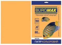 Папір офс А-4 50а/ 80г Neon помаранчевий 2721550-11 BM BUROMAX