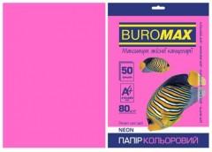 Папір офс А-4 50а/ 80г Neon малиновий 2721550-29 BM BUROMAX