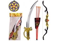 Набір зброї в кул. лук з стрілами 54см, шабля 50см. мішень  ZP1894 (60/120)