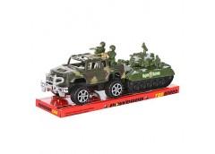 Джип інерц з танк солдати в слюд 32*11см 333 (60)