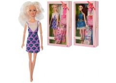 Лялька шарнірна 29см. сукня, гребінець, мікс. вид. в кор. 18*33*5см. D545-D546 (60)