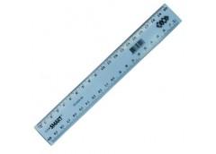 Лінійка ZIBI SMART 20 см. тонований мікс кол. ZB 5608-99 (1/48)