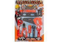 Набір інструментів. пилка, молоток, ключі, викрутка, на лист. 30*43*2см 36778-56...