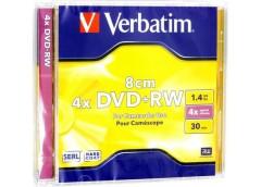 VERBATIM DVD+RW 1,4 GB 4x Jewel 5шт 43565