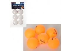 Тенісні шар в слюді, 40мм за 6шт без шву, 2 кол. 11*19*4см  MS 2383 (240)