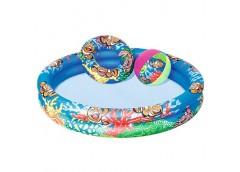 Басейн дитяч 2 кільця круглий круг мяч Підводний світ  152*51см  BW 51124 (12)