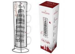 Набір чайний 4 шт. 420 мл. чашка на підставці метал. Limited Edition Italy B1163-09359-4 ЮГ-К