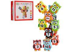 Дерев'яна іграшка фігурки (сова+цифри) 12 шт. в кор 19*15*4см MD 0954 (60)
