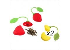 Сито для чаю силікон, клубніка+лимон C-C/35012 OSM (144)