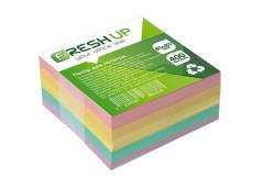 Папір д/нотат Fresh Up 85х85х400 арк  клеєний кольор.мікс FR-3212 (1/30)