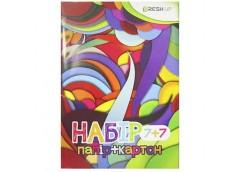 Набір кол. паперу і картону А4 Fresh Up 7+7арк FR-0007-7 (1/25/150)