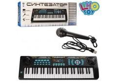 Синтезатор 54 клав, мікрофон, запис, USB зар. MP3, від мережі 220В в кор. 78*26*...