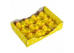 Набір пасхальних курчат в гнізді 5*5см 12шт в упак, 25*18*6см GT1035 (1/80)&&