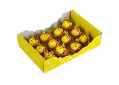 Набір пасхальних курчат в гнізді 5*5см 12шт в упак, 25*18*6см TZ-13/12 (1/80)&&