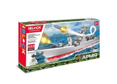 Констp IBLOCK, в кор. армія, корабель, 633 дет. 53*9*28см.  PL-920-178  (12)