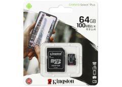 Карта пам'яті KINGSTON microSDXC 64GB Canvas Select U1 (R80, W10MB/s) без адапте...