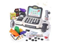 Касовий апарат світ, звук, калькуль., сканер, продукти, гроші. в кор. 29*16*15см...