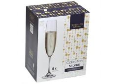 Набір бокалів для шампанського Milvus Barbara 250мл. 6 шт. 1SD22/250