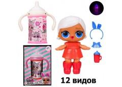 Лялька LOL в бутилочці 12 вид. 8см. аксес.бутил. світ. 12*9*17см.  NC2423 (64/12...