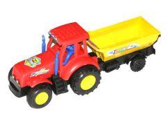 Завідна іграшка трактор з прицепом, 2 кол. в кул. 24*8*9см  099 (216)