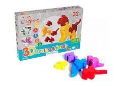 Іграшка розвиваюча 3D пазли Тваринки 4 шт. в наб. 32 елм.Тигрес 39355 (18)