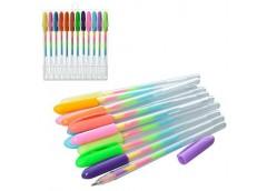 Ручка гелева, цветна, радуга, 12 шт в упак. 14*17*1,5 см MK 3158 (72)