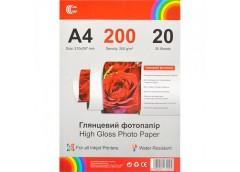 Фото папір глянц А4 20л 200 г.