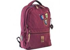 Рюкзак молодіжний YES OX-194 бордовий 28*45*14 см 553998