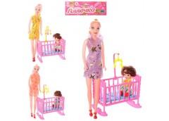 Лялька в кул. 2шт. 27см. і 10см. з ліжечком, 3 вида в кул. 18*32*9см. 339-2 (144...