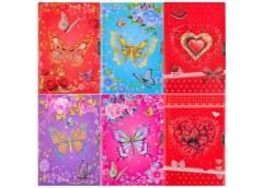 Блокнот дитяч на замку А5 Метелики + Сердечка + Квіти LP32K08 4-111