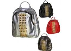 Рюкзак  молодіжний ЕКО шкіра з стразами 4 колр. E-46