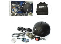 Набір поліцейського в кор. каска, очки, наруч. гранати, 2 вид. 41*28*7см. 33650-...