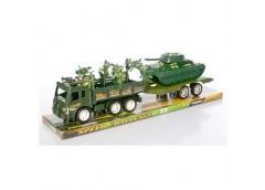 Трейлер в слюді, з причіпом інерц. 40см. танк, вантажівка 44*13*12см.  DB968B-6 ...