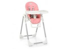 Стульчикд/годування Prime Flamingo, 2  кол, рег. висота спинки, екошкіра, рожеви...