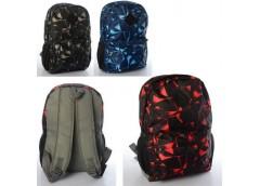Рюкзак 40*29*10см. 3 нар. 1 внутр. карман, 3 кол.  MK 3755 (20)