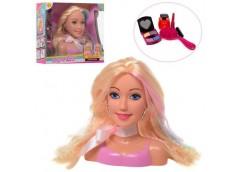 Лялька DEFA, голова для зачісок і макіяжа, в кор. 17см. аксес. 2 кол. 25*23*9см ...