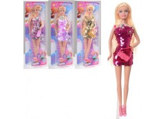 Лялька DEFA, в слюді, 29см. сукня-паєтки, сумка, 4 вид. 12*33*5см  8435-BF (48)