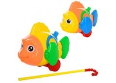 Каталка рибка, звук, рухає.плавцями, 2 кол, в кул. 24*17*10см  0366 (96)
