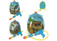 Водяний автомат з балоном на плече 29см. динозавр, мікс. вид. в кул.  22*33*8см ...