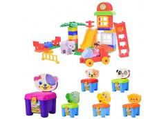 Констp для малюків 3в1, ігров. майданчик, стілець, валіза 46 дет. 6 вид. 34*18*2...