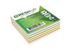 Папір д/нотат Fresh Up 85х85мм400 арк.не клеєний мікс FR-2211
