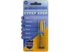 Клей Супер блістер1шт. 3г. Аско-Укрем HC-1-3 (24)